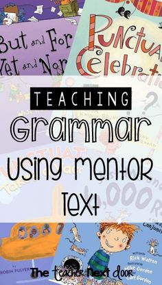 Mentor texts are one of my favorite tools to use in the classroom and I love using them to teach grammar. To me, grammar is just one of those subjects that need Grammar Activities, Teaching Grammar, Grammar Lessons, Teaching Language Arts, Classroom Language, Writing Lessons, Teaching Writing, Teaching Ideas, Writing Ideas