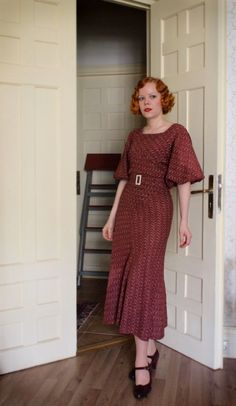 Marianne and her perfect 1930s style... I am DYING over this woman's wardrobe. This one.