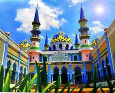 in moslem way, ijab qabul (make promises) will be held in mosque. where christian people do in church. this is one of beautifull mosque in east java indonesia, where people can married here