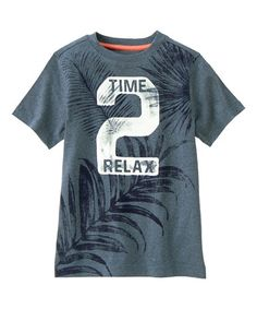 Love this Light Gym Navy 'Time 2 Relax' Palm Tree Tee - Boys on #zulily! #zulilyfinds