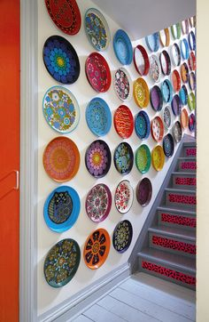 In London, a Color-Clashing Punk's Bright  amazing plate collection....