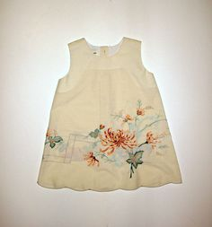 Upcycled Ivory Embroidered Toddler Dress  by KarenHeenan on Etsy, $28.50