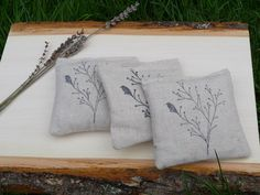 3 Dryer Sachets All Natural Eco Friendly Lavender by NaturesLoft, $10.00