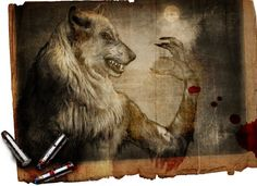 Werewolf art work, very cool.