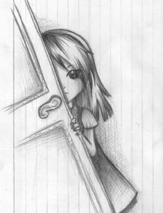 Marvelous Learn To Draw Manga Ideas. Exquisite Learn To Draw Manga Ideas. Cool Easy Drawings, Sad Drawings, Dark Art Drawings, Girly Drawings, Art Drawings Sketches Simple, Pencil Art Drawings, Beautiful Drawings, Pencil Sketches Easy, Art Du Croquis