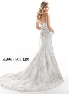 Ainsley - Bridal Gown by Maggie Sottero (back)