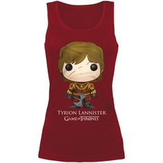 Game Of Thrones - Funko Pop! - Tyrion Lannister    - girls' top  - Front print  - Fit: regular cut    The Game Of Thrones Funko Pop! – Tyrion top provides you with your personal bodyguard. Small Tyrion can't wait to protect you from villains as he practises with his axe. He's in a good mood and poses proudly on the ladies top along with his name.