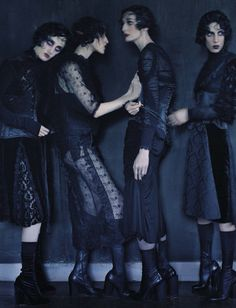 Tim Walker Captures Four Femmes In 'Rebel Riders' For Vogue Italia December 2015 — Anne of Carversville