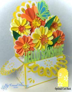 Flower card box
