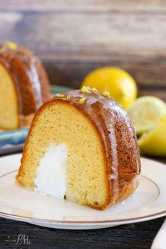 Cream Filled Lemon Bundt Cake