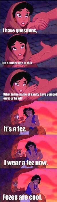 Disney Aladdin /Doctor Who crossover joke