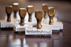 New custom identity branding stamps!  Have your very own stamp made with your business logo or tagline, saying/quote!  Stamps are photopolymer and are wood handle mounted!  PERFECT for envelopes, client packages, tags, and so much more!    Available now at http://www.corinanielsen.com/shop/