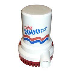 Rule 2000 gph gold series bilge pump products rule 2000 gph non automatic bilge pump 24v publicscrutiny Choice Image