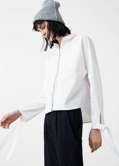 Camisa popeline laços | MANGO