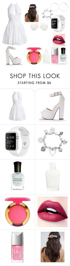 """""""White Day Out In The Park"""" by melody-marvell ❤ liked on Polyvore featuring Alaïa, ChloBo, Deborah Lippmann, MAC Cosmetics, Christian Dior, Her Curious Nature and Linda Farrow"""