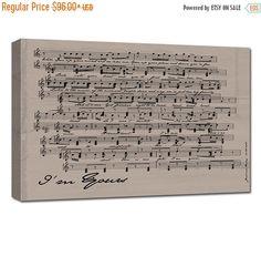 Sheet Music Wall Art anniversary gift ideas cotton anniversary gift,sheet music notes