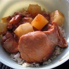 Slow Cooker Honey Ginger Chicken Thighs @ allrecipes.co.uk