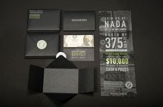 """escapekit: """" GM Financial: NADA 2013 Invitations This is an invitation set for GM Financial's booth at the 2013 National Automobile Dealers Association trade show. The invitations were mailed to. Fashion Invitation, Invitation Design, Invitation Cards, Invitations, Pantone, Direct Mailer, Collateral Design, Interactive Art, Brand Packaging"""
