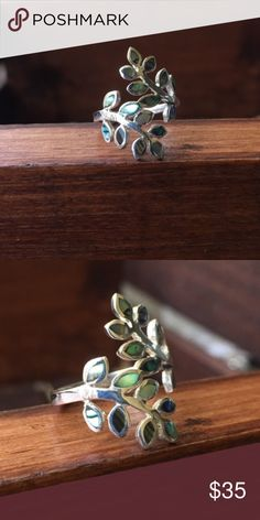 Leaf Sterling silver ring Solid Sterling silver 925, shop with confidence🎊🎉 Jewelry Rings