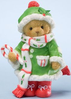 Cherished Teddies: Conrad and Candy Cane - Wrap Yourself in the Season's Warmth
