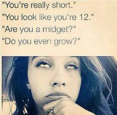 Answering people's dumb questions everyday ! 30 Awkward Moments Every Short Girl Understands Short People Problems, Short Girl Problems, Short Person, Dumb Questions, Fun Size, Struggle Is Real, Awkward Moments, Funny Stories, Girl Humor