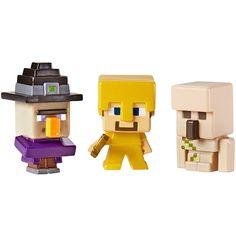 Pack de 3 mini figuras de Minecraft: Steve?, Witch y Iron Golem #Juguetes #niños #Minecraft #figuras #Steve #Witch #IronGolem #ToysRUs