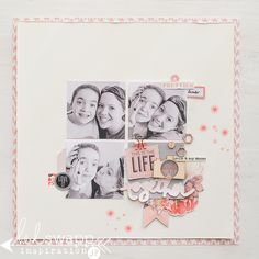 #Papercraft #scrapbook #layout. Heidi Swapp