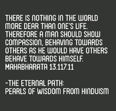 One of my favourite verses from the Mahabharata