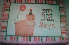 Baby hippo birthday