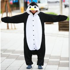 Onesie Penguin Onesie for Adults – Unicorn OnesiesPenguin Onesie for Adults – Unicorn Onesies Cute Onsies For Teens, Cute Onesies, Lazy Day Outfits, Cute Outfits, Pyjamas, Penguin Art, Comfortable Fashion, Just In Case, Kawaii Outfit