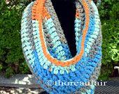 Crochet Cowl or Infinity Scarf - Neckwarmer Winter Fall Spring - Handmade