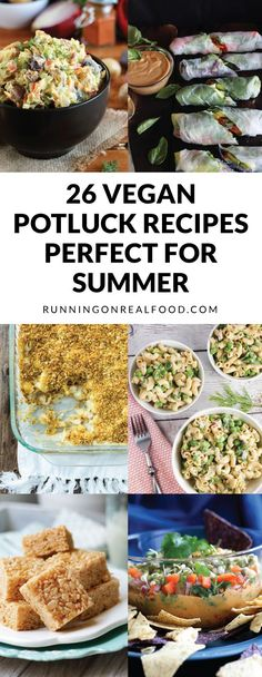 26 Vegan Potluck Recipes Perfect for Summer BBQs, Picnics and Beach Days - Easy, healthy, delicious and sure to please a crowd!