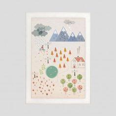 Poster con cornice Seasons by Stefania Manzi #beburuburu