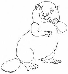 Beavers coloring  page 4