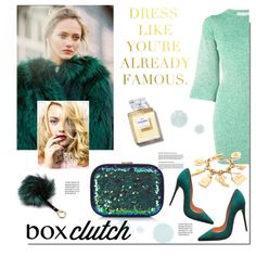 Box Clutch by hellodollface on Polyvore featuring STELLA McCARTNEY, Christian Louboutin, Wallis, Adrienne Landau, Chanel, Nordstrom Rack, women's clothing, women's fashion, women and female