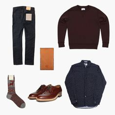 W hile they may be one of the smallest part of this week's kit, the centerpiece . Mens Fashion, Fashion Outfits, Street Fashion, Fashion Ideas, Classy Men, Sartorialist, Men's Wardrobe, Men Street, Crew Socks