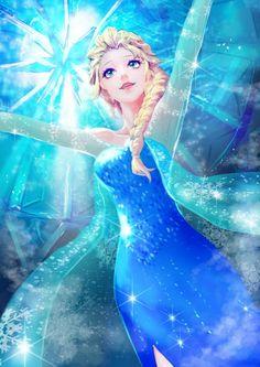 Elsa the Snow Queen - Frozen (Disney) - Mobile Wallpaper - Zerochan Anime Image Board Walt Disney, Disney Pixar, Disney Films, Disney And Dreamworks, Disney Animation, Disney Princess Art, Frozen Princess, Disney Fan Art, Disney Love