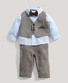 Boys suit from Mamas and Papas, nice Christening outfit for Baby Bond