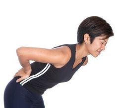 woman with lower back pain, back sore
