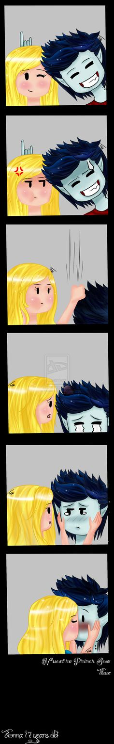 Our first kiss by floweers17.deviantart.com on @deviantART