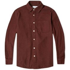Silva? Portuguese Flannels Boavista Shirt (Bordeaux Melange)