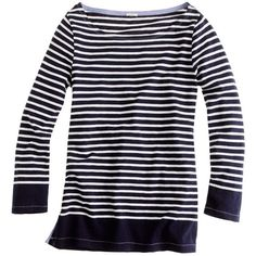 Sailor Boatneck Tee ($25) ❤ liked on Polyvore featuring tops, t-shirts, shirts, tees, stripes, sweaters, slim fit t shirts, blue shirt, stretch t shirt and striped boatneck tee