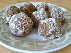 peanut flour date balls