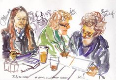 Drink and Draw | watercolor / manchester, UK | kumi matsukawa | Flickr