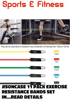Vzteek Resistance-Exercise-Band-Set-Weight-with-Handles 100 lbs