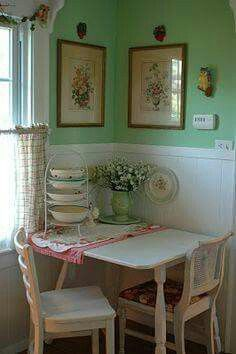 Vintage Home - 1940s green - lovely! Great way to paint hutch to ...