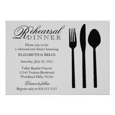 Formal Dinner Rehearsal Dinner Invitations Rehearsal Dinner Invitation