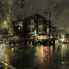 cityscape painting - Google Search