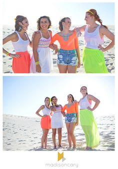 neon summer 2014 senior model sandhills shoot by madisoncary photography // summer outfit ideas