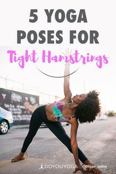 5 Yoga Poses for Tight Hamstrings #yoga #fitness #health Yoga Poses For Men, Basic Yoga Poses, Yoga Poses For Beginners, Yoga Tips, Yoga For Men, Pranayama, Asana, Tight Hamstrings, Different Types Of Yoga